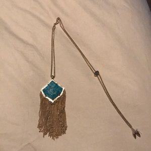 Kingston adjustable fringe necklace